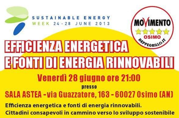 Venerdì 28 giugno ore 21:00pressoSALA ASTEA – via Guazzatore, 163 – Osimo Efficienza energetica e fonti di energia rinnovabili. Cittadini consapevoli in cammino verso lo sviluppo sostenibile In occasione della […]