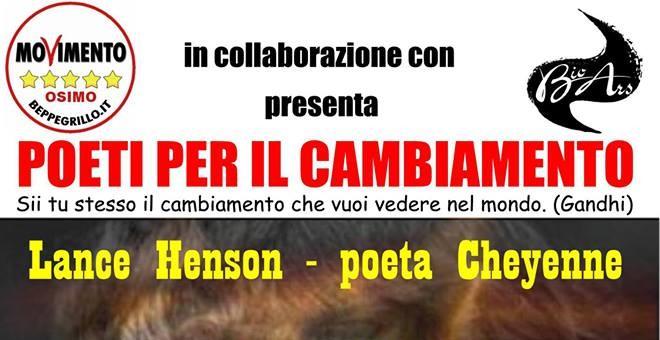 Domenica 23 giugno alle ore 21.00, presso il Silicon Bar di Osimo (Corso Mazzini, 27), si svolgerà un incontro con il poeta Lance David Henson, scrittore Cheyenne tra i più […]