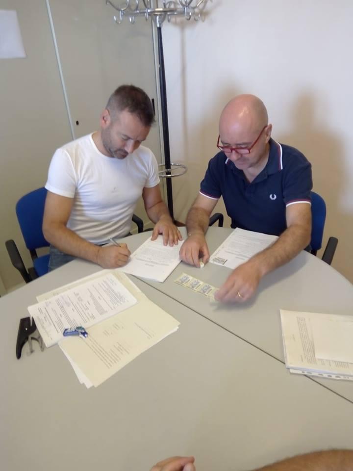 Firma della convenzione per il verde pubblico